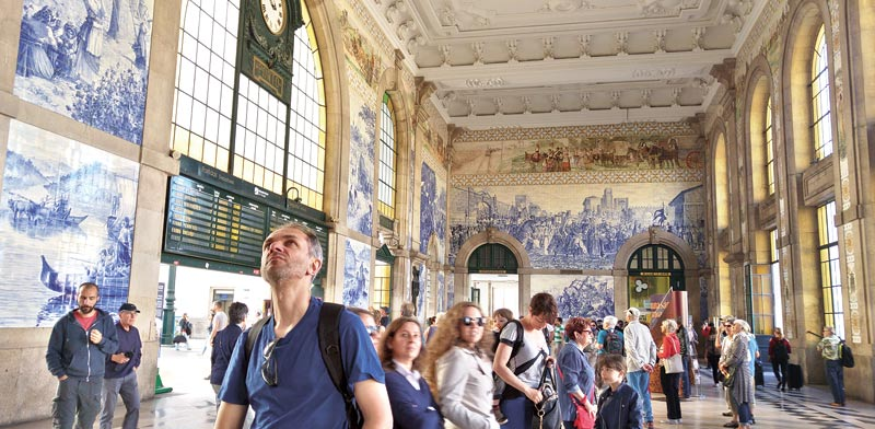 פורטוגל, תחנת הרכבת בפורטו / צילום: זהרה רון