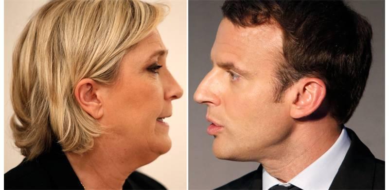 בחירות צרפת, עמנואל מקרון ומארין לה פן יתמודדו בסיבוב שני (צילום: רויטרס)