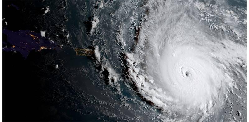 הוריקן אירמה / צילום: NOAA, רויטרס