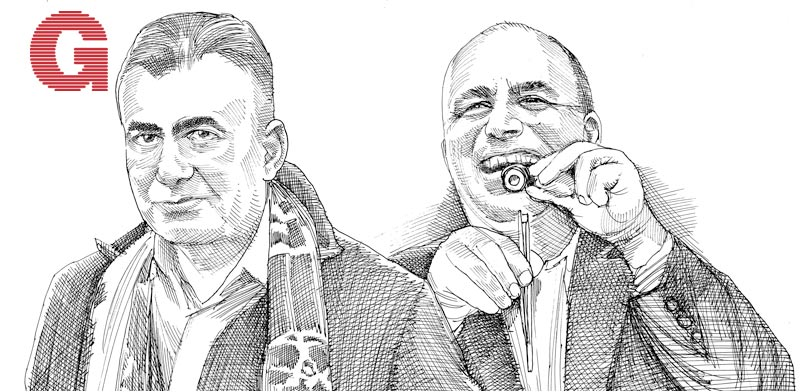 שרון ניסנוב ואיציק ניסנוב / איור: גיל ג'יבלי