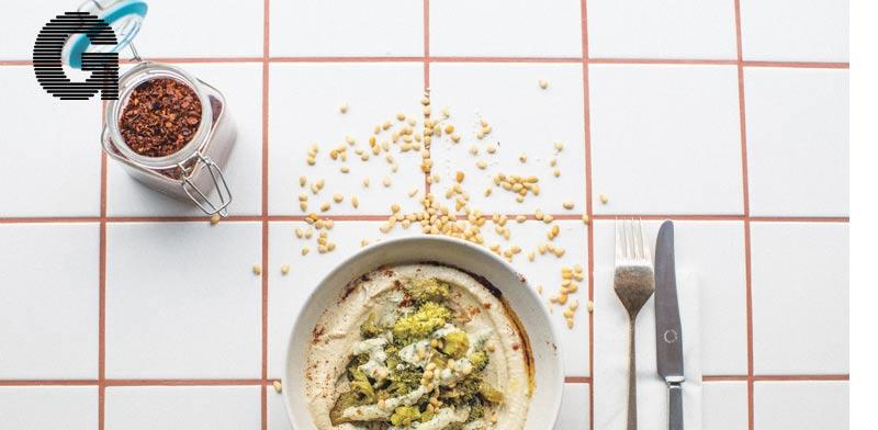 חומוס  עם ברוקולי צלוי של מסעדת יפו/ צילום:julien benaiteau