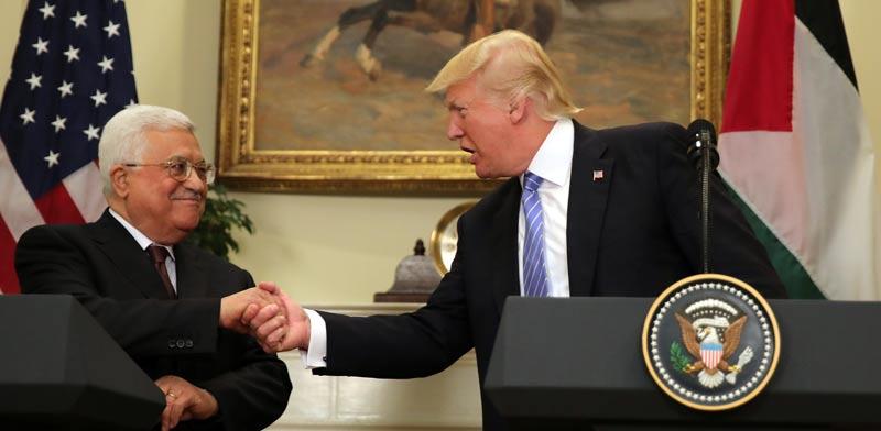 דונלד טראמפ  ואבו מאזן / צילום: רויטרס