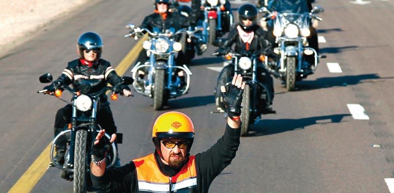 Motorbikes Photo: Reuters
