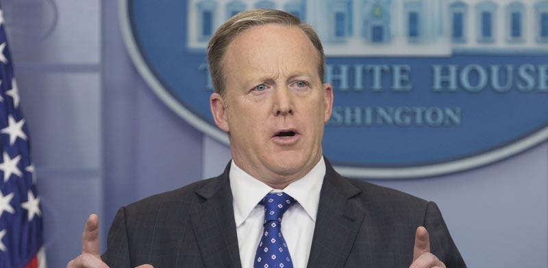 שון ספייסר דובר הבית הלבן / צילום: מהוידאו