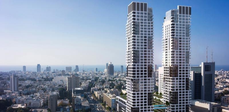 אשטרום תקים את מגדלי דה  וינצי בתל אביב / הדמיה: יחצ