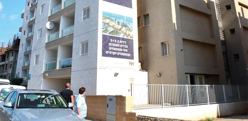 """בניין במסגרת תמ""""א 38. ירידה גם בכמות הבקשות / צילום: תמר מצפי"""
