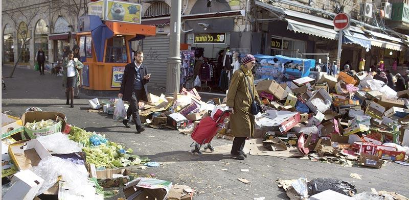 ערימות זבל בירושלים  / צילום: ליאור מזרחי