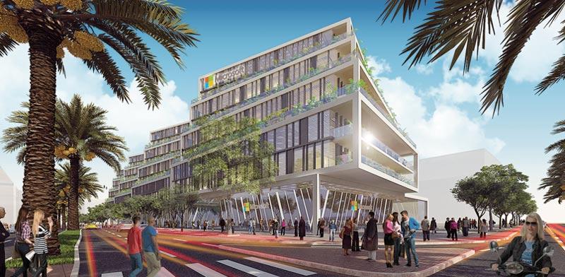 הדמיה של בניין מיקרוסופט  בהרצלה פיתוח / הדמיה: ישר אדריכלים