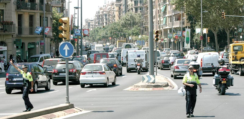 עומס תנועה בברצלונה  / צילום: רויטרס