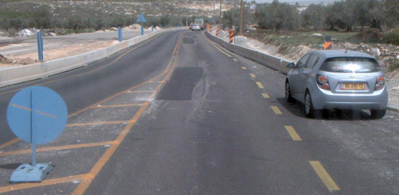 הקטע הבעייתי בכביש / צילום: דוברות נתיבי ישראל