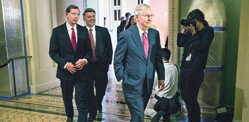 מיץ* מקונל מנהיג הרוב הרפובליקאי בסנאט / צילום:בלומברג
