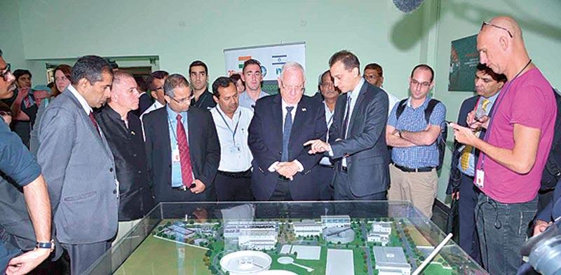 הנשיא ריבלין בביקור במתקן של אקווה בהודו  / צילום: יחצ