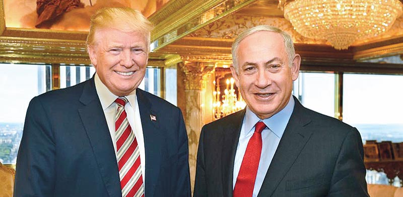 Donald Trump, Benjamin Netanyahu  photo: Kobi Gidon, Laam