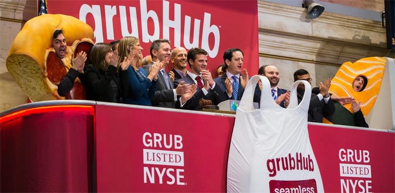 הנפקה של Grubhub  , צילום: רויטרס  /Lucas Jackson