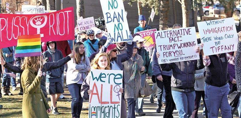 הפגנות נגד הצו של טראמפ נגד ההגירה / צילום: רויטרס