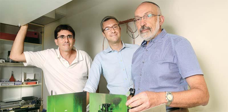 מימין: מיכאל רוזנבלו, עמנואל דלה טורה ואבי פאר / צילום: איל יצהר