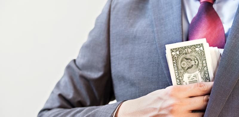 Bribery Photo: Shutterstock