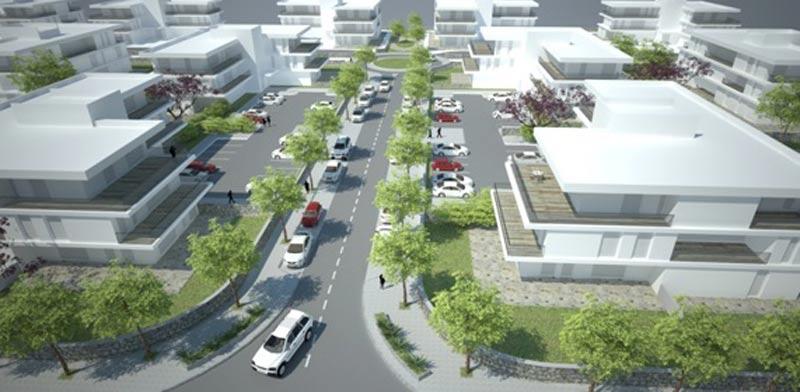 """הדמיה 2 תכנית אפקים / יעד אדריכלים מתכנני ערים ונוף בע""""מ"""