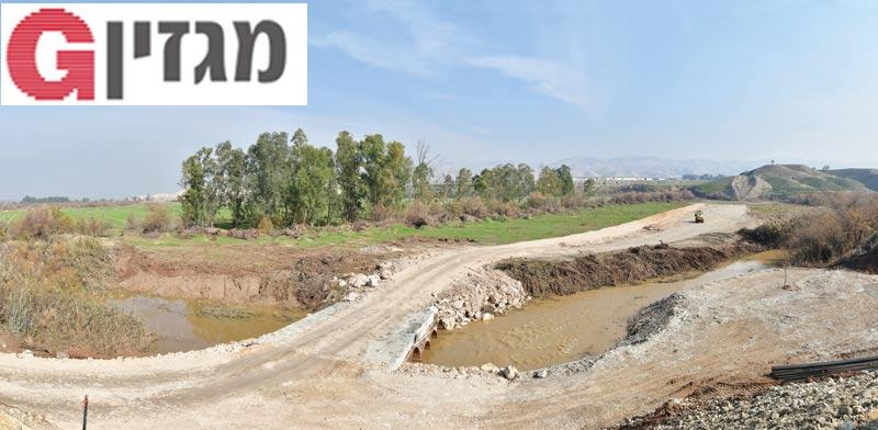הגשר הזמני מעל ירדן / צילום: רפי קוץ
