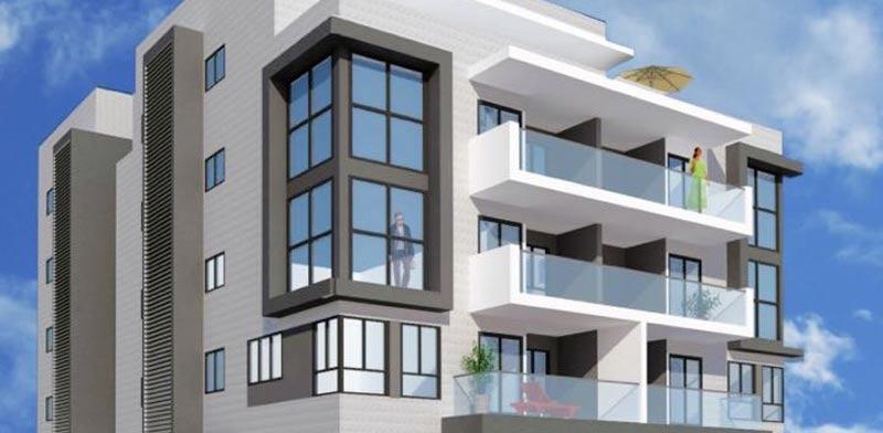 """פרויקט דירות ברחוב בורוכוב, גבעתיים / הדמיה: יח""""צ"""