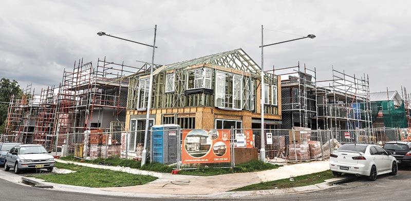 בניה למגורים באזור סידני / צילום: בלומברג