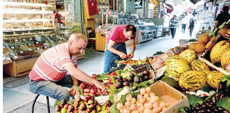 שוק מזון באיסטנבול / צילום: בלומברג