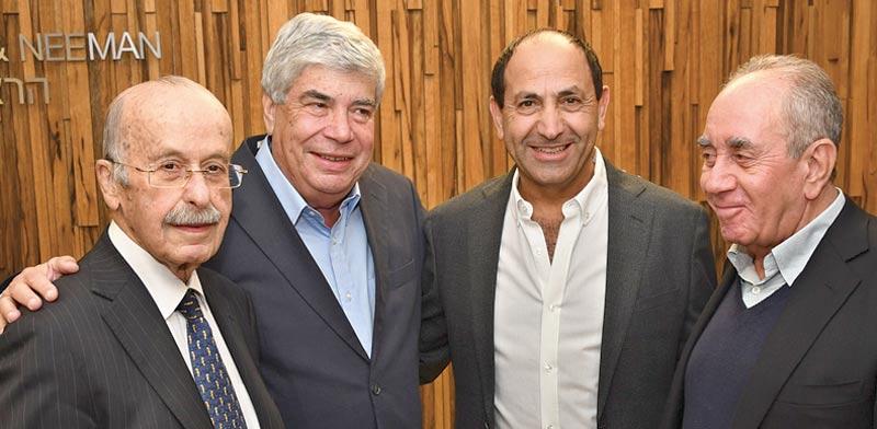 אקירוב, לוי, אראל וכספי / צילום: ישראל מלובני