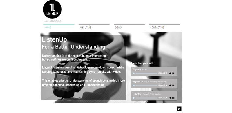 """ListenUp. """"הפיתרון נבדק בשפות עברית, צרפתית, אנגלית וסינית"""" / צילום: אתר החברה"""
