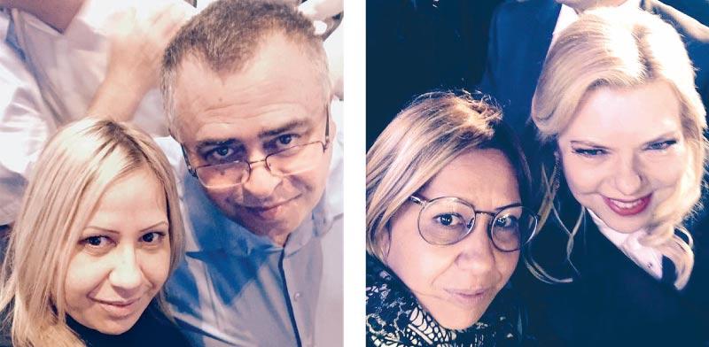 מירב שמולי עם שרה נתניהו ועם דוד ביטן / צילום מדף הפייסבוק של שמולי