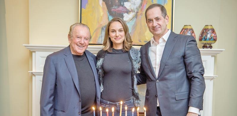 סטן פולובץ, נטלי פורטמן ומוריס קאהן / צילום: קרן פרס בראשית