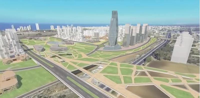 הדמיה נתניה בשנת 2035/ צילום: עיריית נתניה