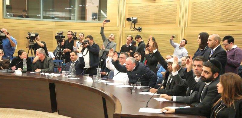 הצבעה בוועדת הכנסת / צילום: דוברות הכנסת