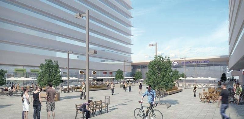 הדמיית מתחם הרכבת החדש ברחובות / צילום הדמיה: קולקר קולקר אפשטיין