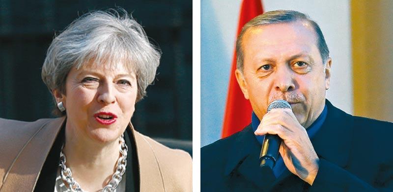 נשיא טורקיה ארדואן, ראשת ממשלת בריטניה מיי / צילומים: רויטרס