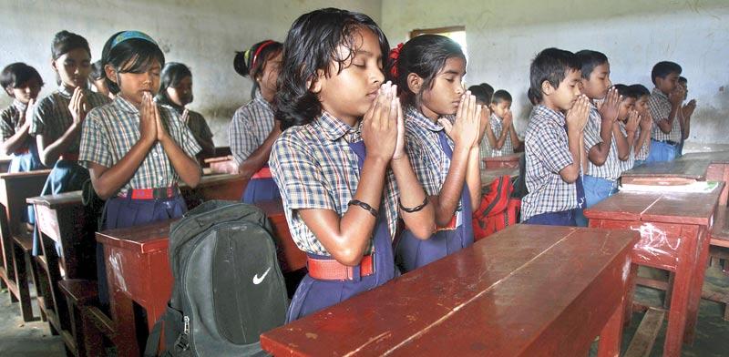 תלמידי בית ספר בהודו / צילום: רויטרס