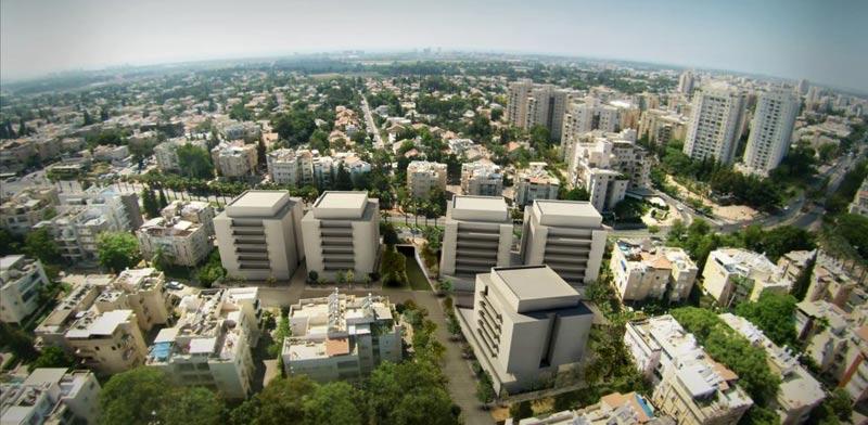 אושרה תוכנית ברמת השרון / קרדיט הדמייה: א.מזור - א.פירשט אדריכלים ומתכנני ערים