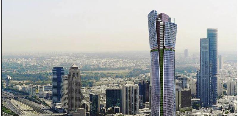 המגדל הגבוה בישראל הדמיה / בין ערים- אמנון שוורץ אדריכלים
