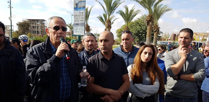 Teva workers demonstrate  photo: courtesy Histadrut