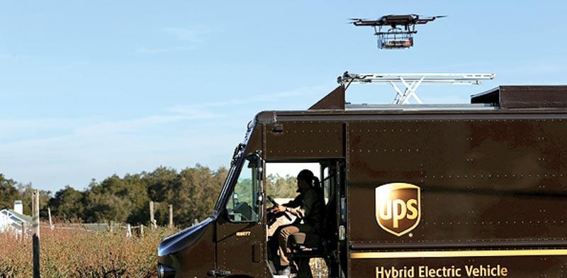 הניסוי של UPS. רחפן עם 8 מנועים / צילום: רויטרס