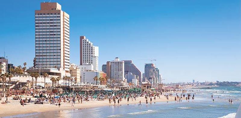 חוף הים של תל אביב / צילום:shutterstock