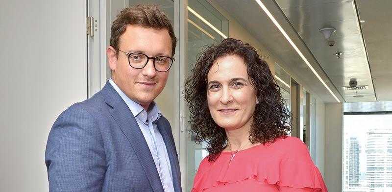 לודוויק סוברן וחגית ציטיאט לוין / צילום: תמר מצפי