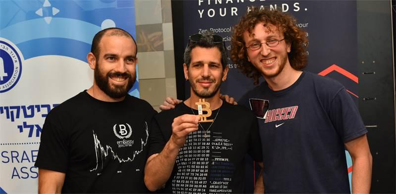 הצוות הזוכה בתחרות, Brainseed - אורי נוימן, מתן שפירא ואלון גול / צילום: גלעד אילוז