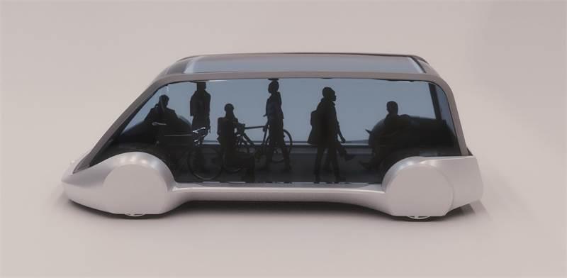 """קרון במערך התחבורה הציבורית המהירה שמציע אלון מאסק / הדמיה: יח""""צ"""