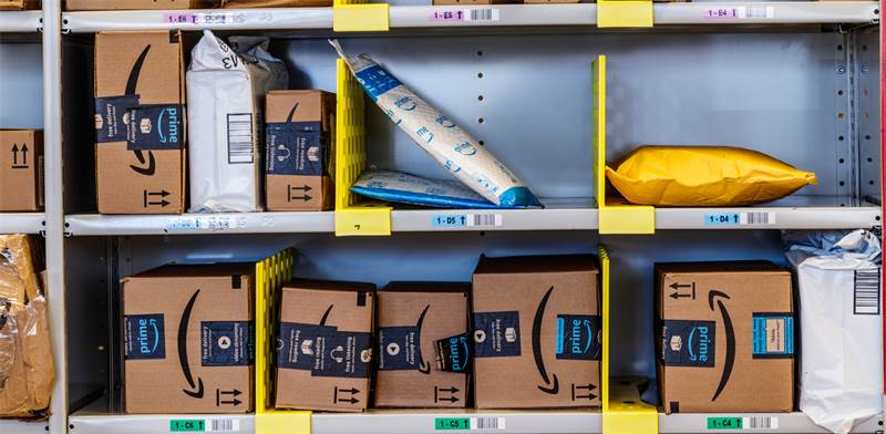 Amazon packages Photo: Shutterstock