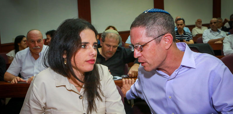 פרופ' דוד האן ושרת המשפטים איילת שקד / צילום:שלומי יוסף