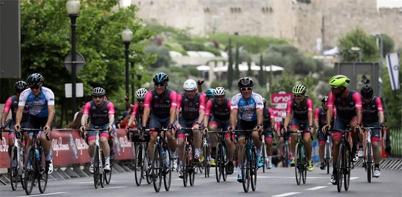 ג'ירו ד'איטליה ברחובות ירושלים / צילום: רויטרס
