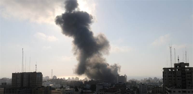 Israel Air Force attack in Gaza  photo: Reuters