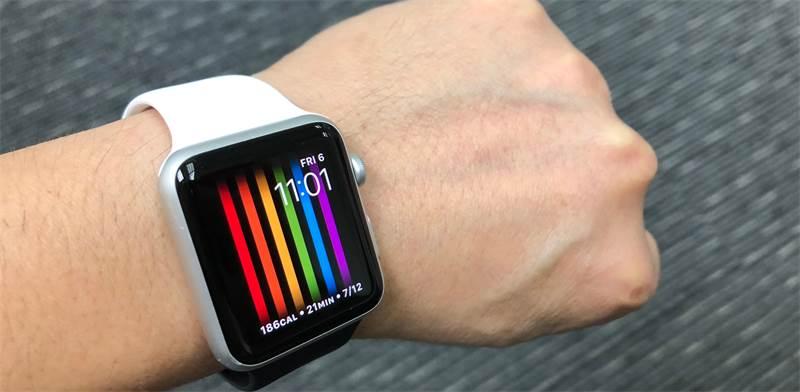 אפל ווטש עם צבעי דגל הגאווה / צילום: Shutterstock