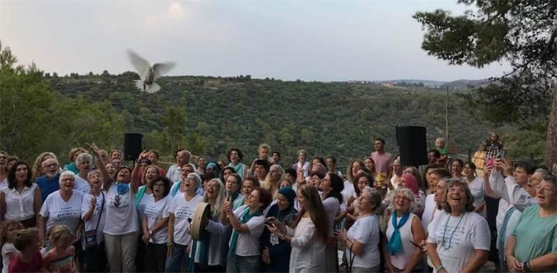 נשים בעצרת יום השלום / צילום: נשים שרות שלום