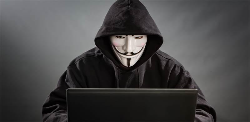 האקר של אנונימוס עם מסכת גאי פוקס / צילום: Shutterstock